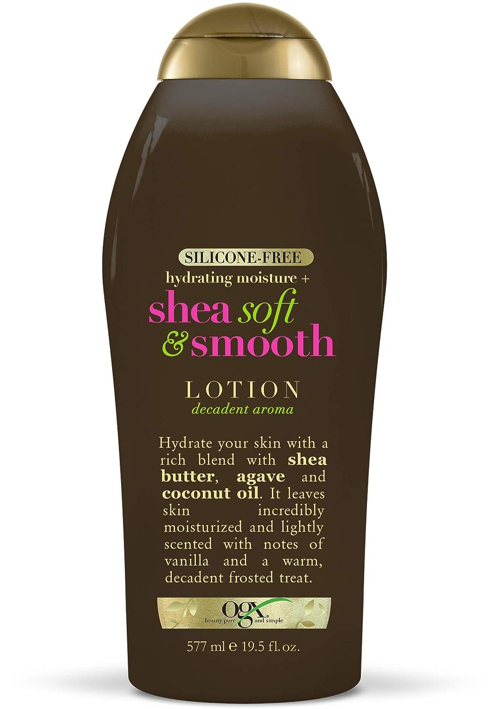 OGX Hydrating Moisture + Shea Soft & Smooth Body Lotion, 19.5 Fl Oz