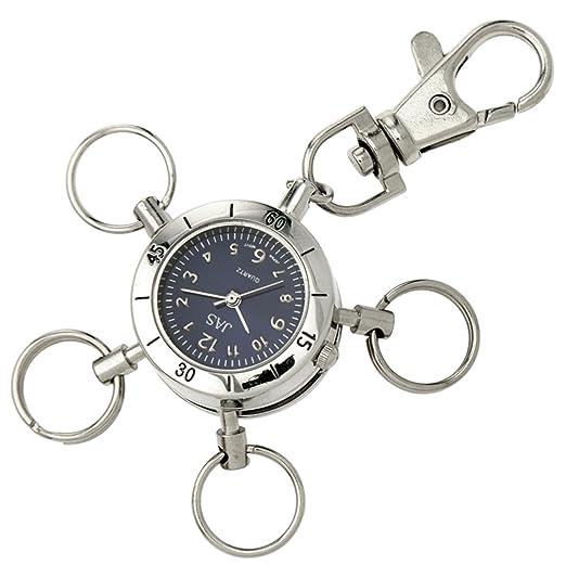 Jas Unisex novedad cinturón llavero/llavero reloj Multi ...