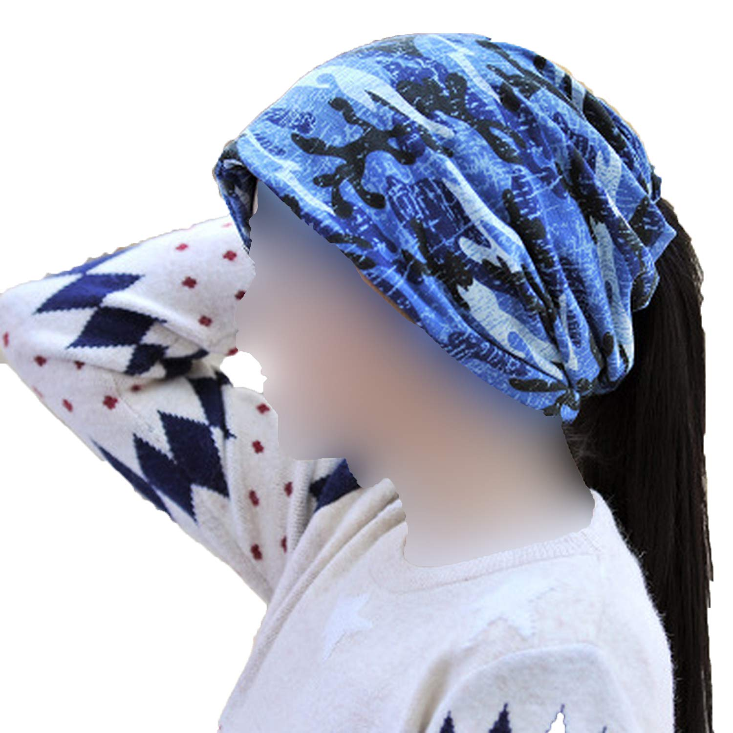 Knitted Scarf /& Winter Hats for Women Men Camouflage Printing Mens Warm Beanies Fashion Hip-Hop Winter Cap