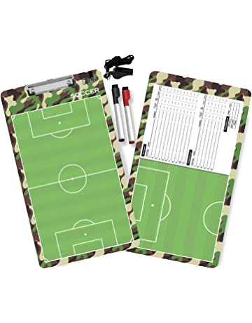 Tatti Coaches Clipboards Double Sided Premium Coaching Board with Dry Erase Markers and A Whistle :