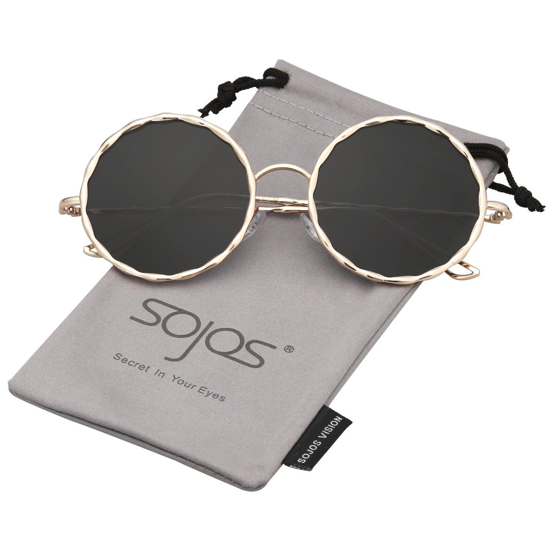 SOJOS Rotondo Occhiali da Sole Fashion Grande Donna SJ1090 SJ1090C1