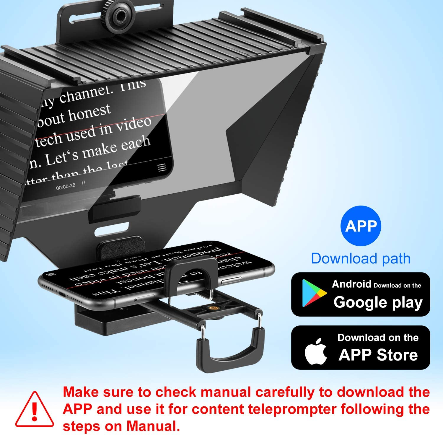 Support Phone and iPad As Teleprompter Device Compatible for ...