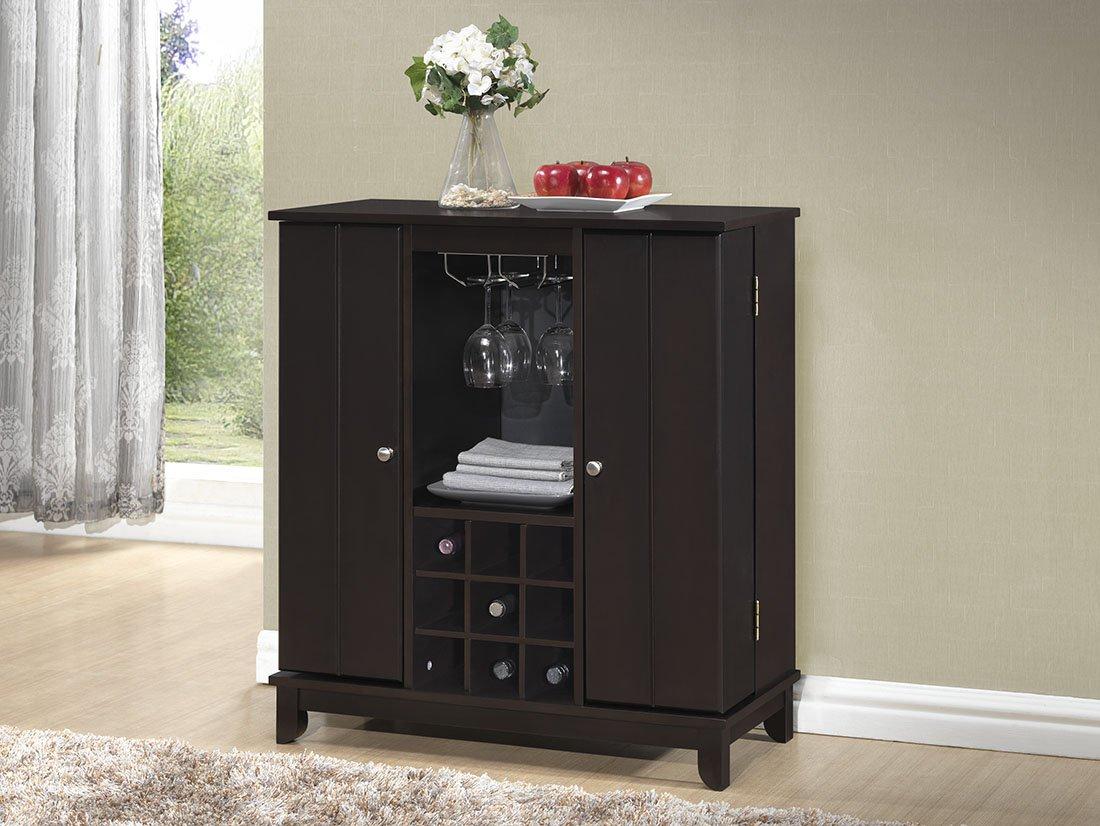 contemporary bar furniture. Amazon.com: Baxton Studio Derremer Contemporary Bar Cabinet, Dark Brown: Kitchen \u0026 Dining Furniture