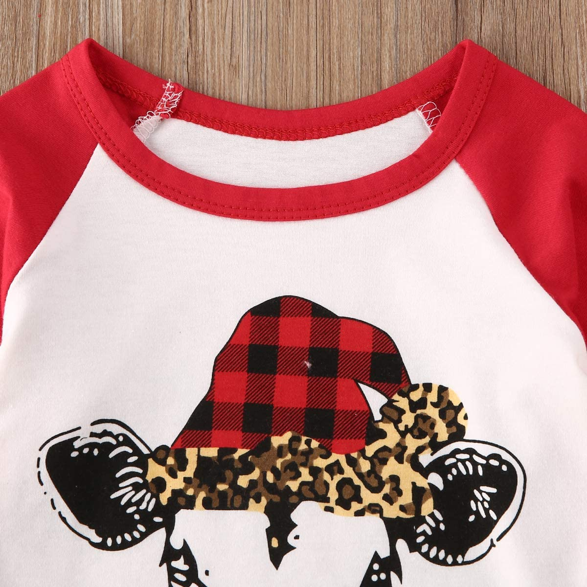 Leopard Flare Pants Sets Denim Bell Bottom Jeans Baby Girls Summer Clothes Letter Print Short Sleeves Romper Tops