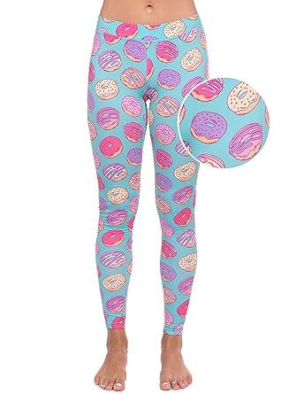 842e62f77d Amazon.com: Donut Leggings - Doughnut Costume Tights for Women: X ...