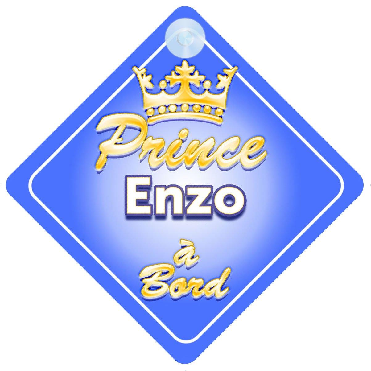 Couronne Prince Enzo Signe Pour Voiture Enfant/Bébé à Bord Quality Goods Ltd