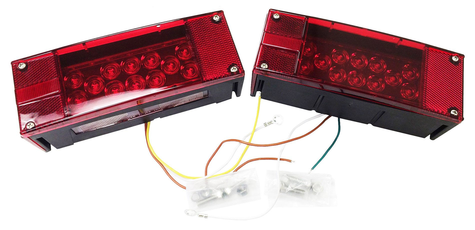 LED Submersible Low Profile Trailer Tail/Side Light Pair - 24009/24010