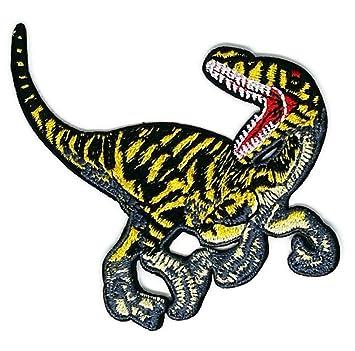 Parche bordado de dibujos animados de dinosaurio para coser o planchar, hecho a mano,