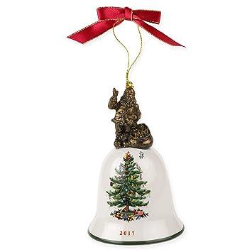 spode christmas tree santa bell 2017 ornament - Christmas Tree Santa