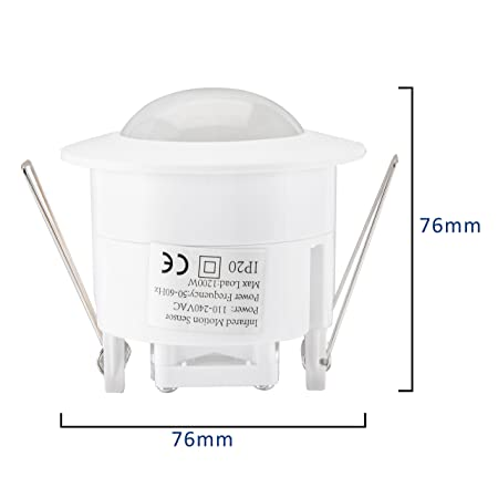 eDealMax Mini sensor de movimiento del interruptor 110V-240V Interruptor de techo PIR de infrarrojos cuerpo del sensor de movimiento del detector de luz de ...