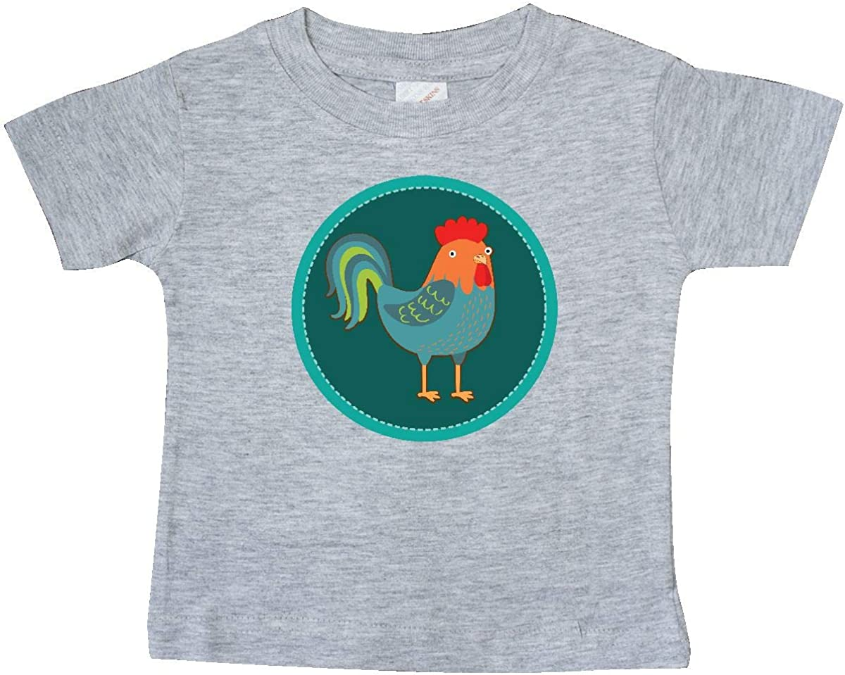 inktastic Rooster Chicken Farmer Baby T-Shirt