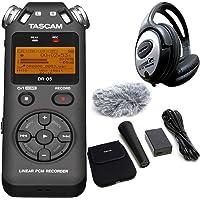 Tascam DR-05 V2 Audio-Recorder + AK-DR11GMK2 Zubehör Set + KEEPDRUM Kopfhörer