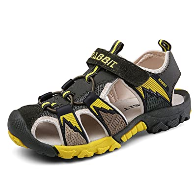 624dd6942d1f4 Boys    Girls  Outdoor Sport Closed-toe Sandals Kids Velcro Breathable Mesh  Water