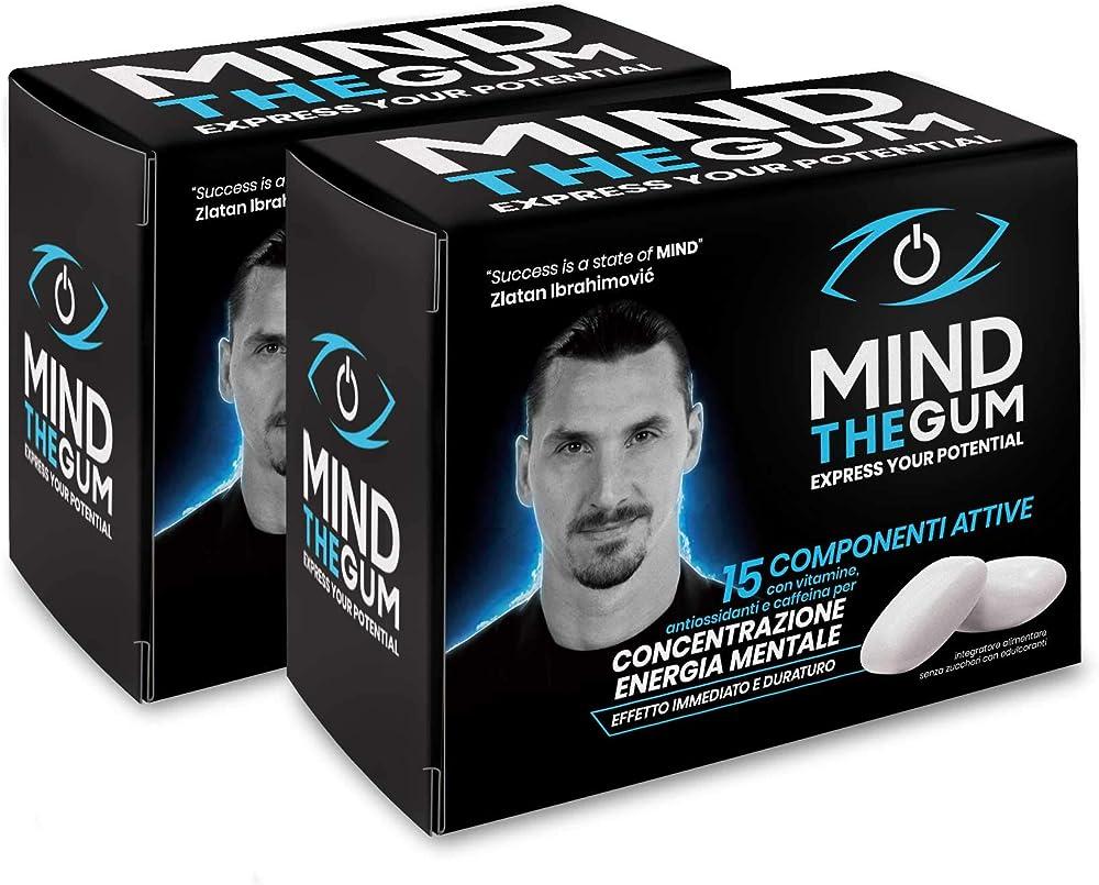 Mind the gum integratore per concentrazione zlatan ibrahimovic