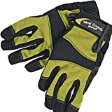 Garden and Work Gloves - Adjustable Wrist Tab, Washable