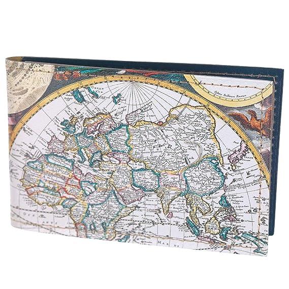 Tarjetero de Piel con diseño de Mapa del Mundo, Tarjeta de ...