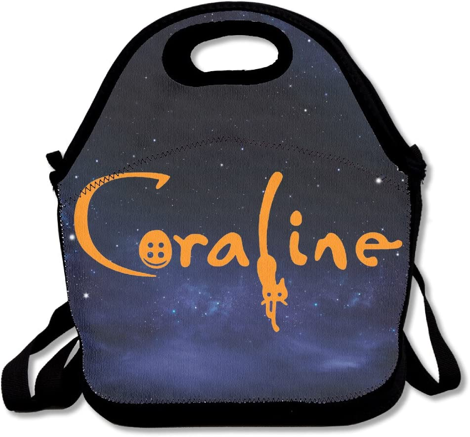 Jskbag Coraline Animated Movie Colorful Lunch Bag Tote Mom Bag Amazon Co Uk Kitchen Home