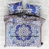 "Ombre Mandala Doona Cover Bohemian Cotton Queen Size Duvet Bohemian Blanket Cover Comforter Set Traditional Style Sold By ""Handicraftspalace"""