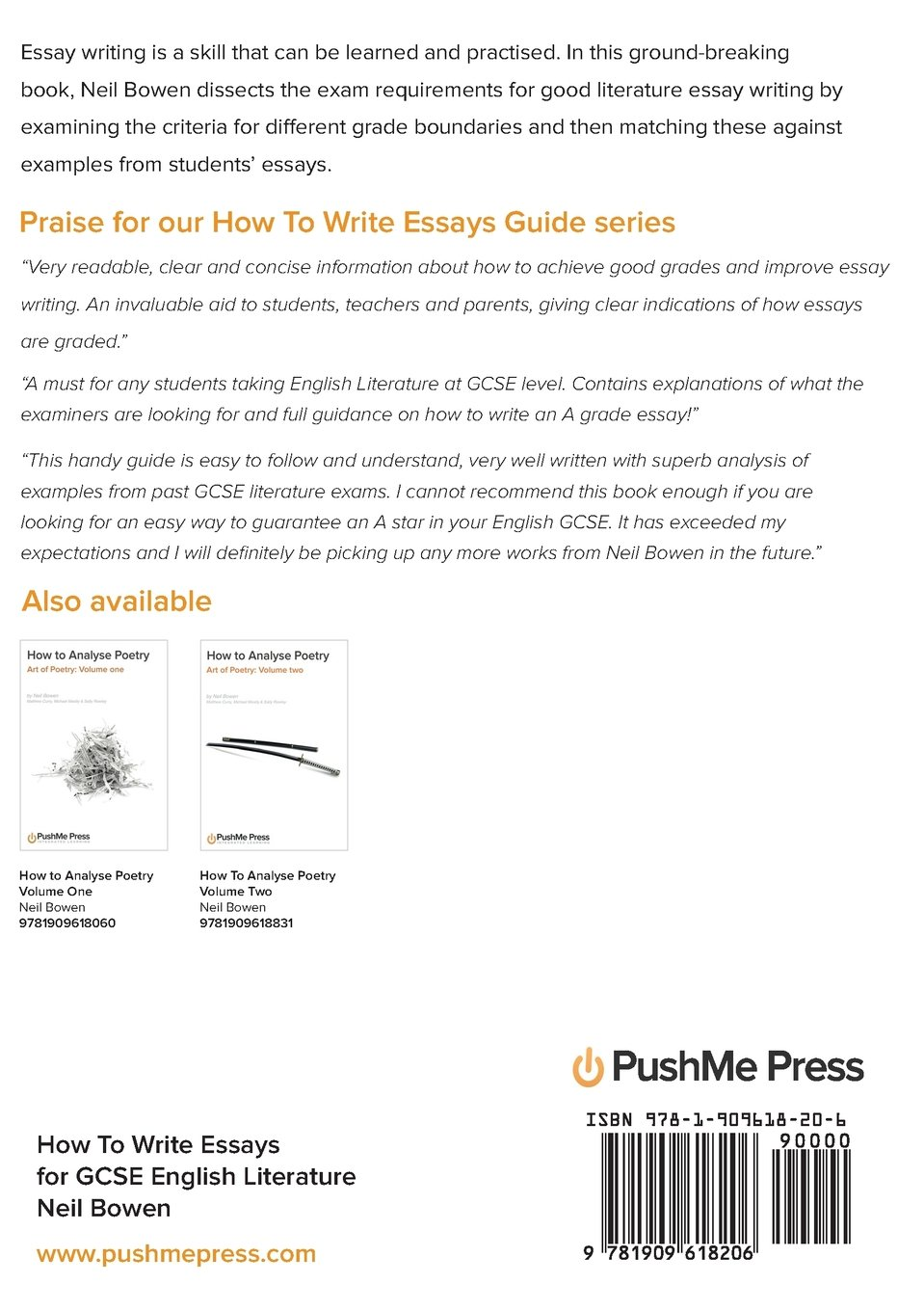 amazoncom how to write essays for gcse english literature  amazoncom how to write essays for gcse english literature   neil bowen books