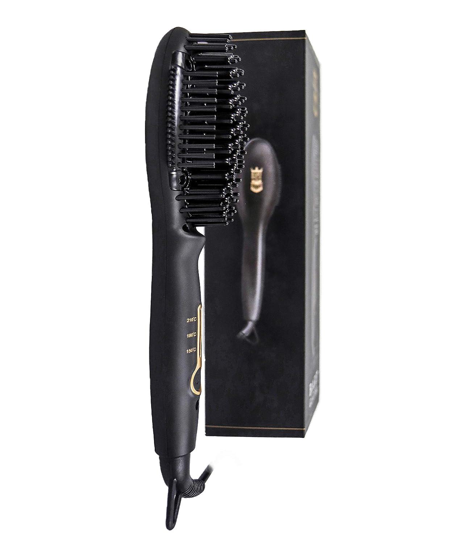 Bart Royal - Plancha para la barba con cepillo alisador para el cuidado de la barba, fácil de usar, incluye instrucciones (pueden no estar en español): ...
