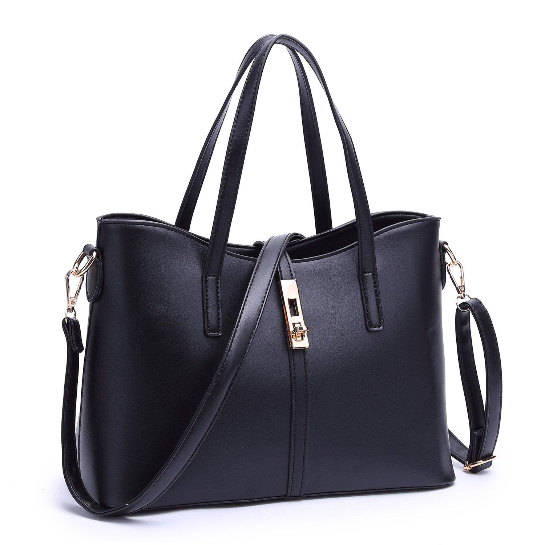 obosoyo fashion women s pu leather handbag shoulder