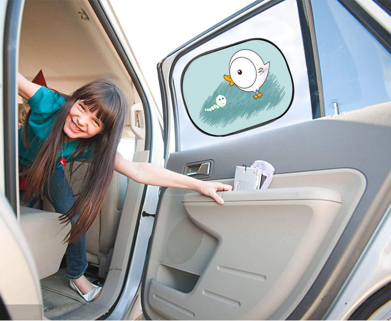 Popinnos Parasole laterale per auto tenda interna per bambini posizionamento elettrostatico autoadesivo Dinosauro per bambini accessorio per finestrino posteriore protezione dai raggi UV