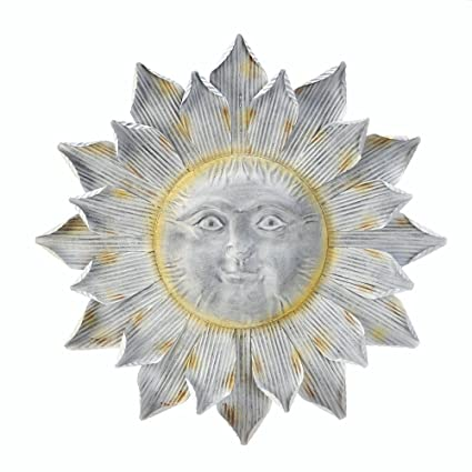 Amazon.com: Sunflower Wall Decor Metal, Large Iron Sunflower Outdoor ...
