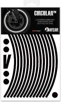7mm breit 1 Felge VFLUO Circular/™ Motorrad Retro reflektierende Felgenrandaufkleber Kit Gelb 3M Technology/™
