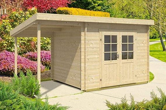 CARLSSON Maria - Techo para jardín con techo inclinado, grosor de pared de 28 mm (450 x 250 cm): Amazon.es: Jardín