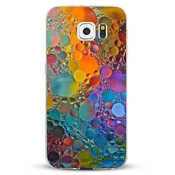 JEPER Funda Compatibles con Galaxy S6/S6 Edge/S6 Edge Plus/S7/S7 Edge Carcasa Silicona Transparent Protector TPU Ultra-Delgado Anti-Arañazos Mármol ...