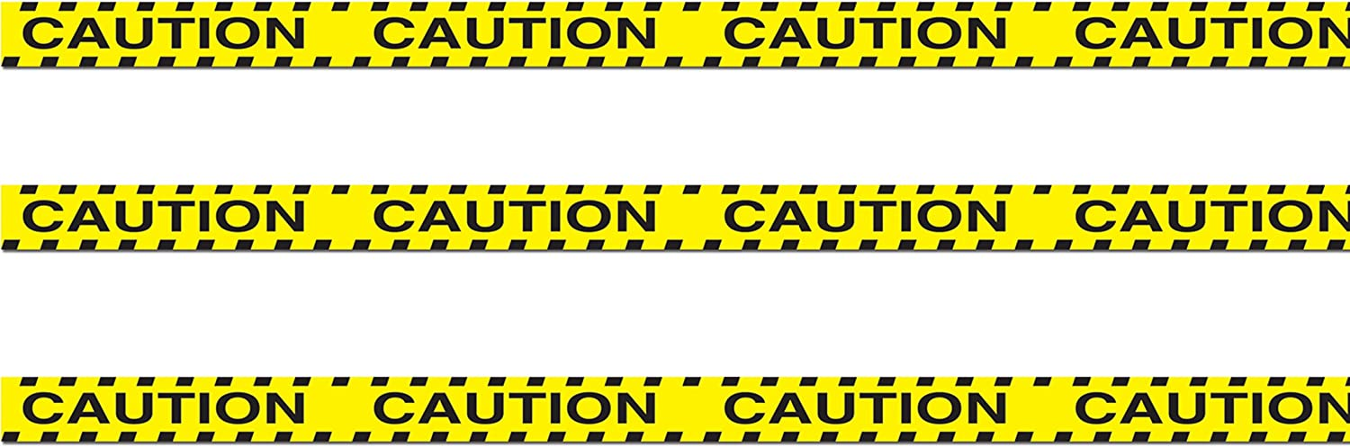"""Beistle , 3 Rolls Caution Party Tape, 3"""" x 20'"""
