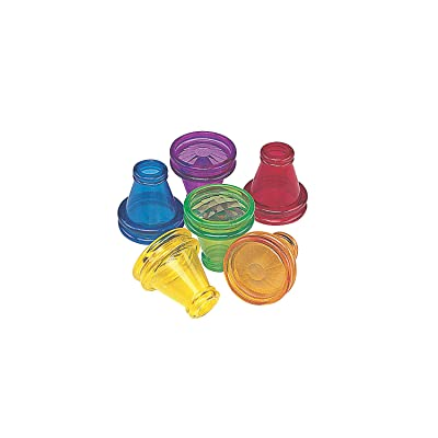 Fun Express Transparent Prism Kaleidoscope Toys (Bulk Set of 12) Party Favors: Toys & Games