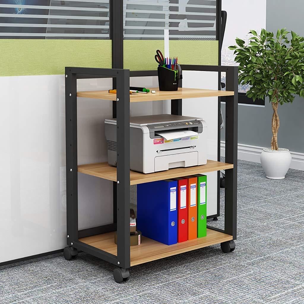 可動プーリー/ラミネート間隔調整可能な3階建てオフィスプリンターラックオーディオ機器CDキャビネット。 (Color : B) B07T6L6WZ9 B