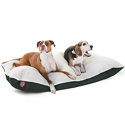 Poly-Cotton Sherpa Pillow Pet Dog Bed by Majestic Pet