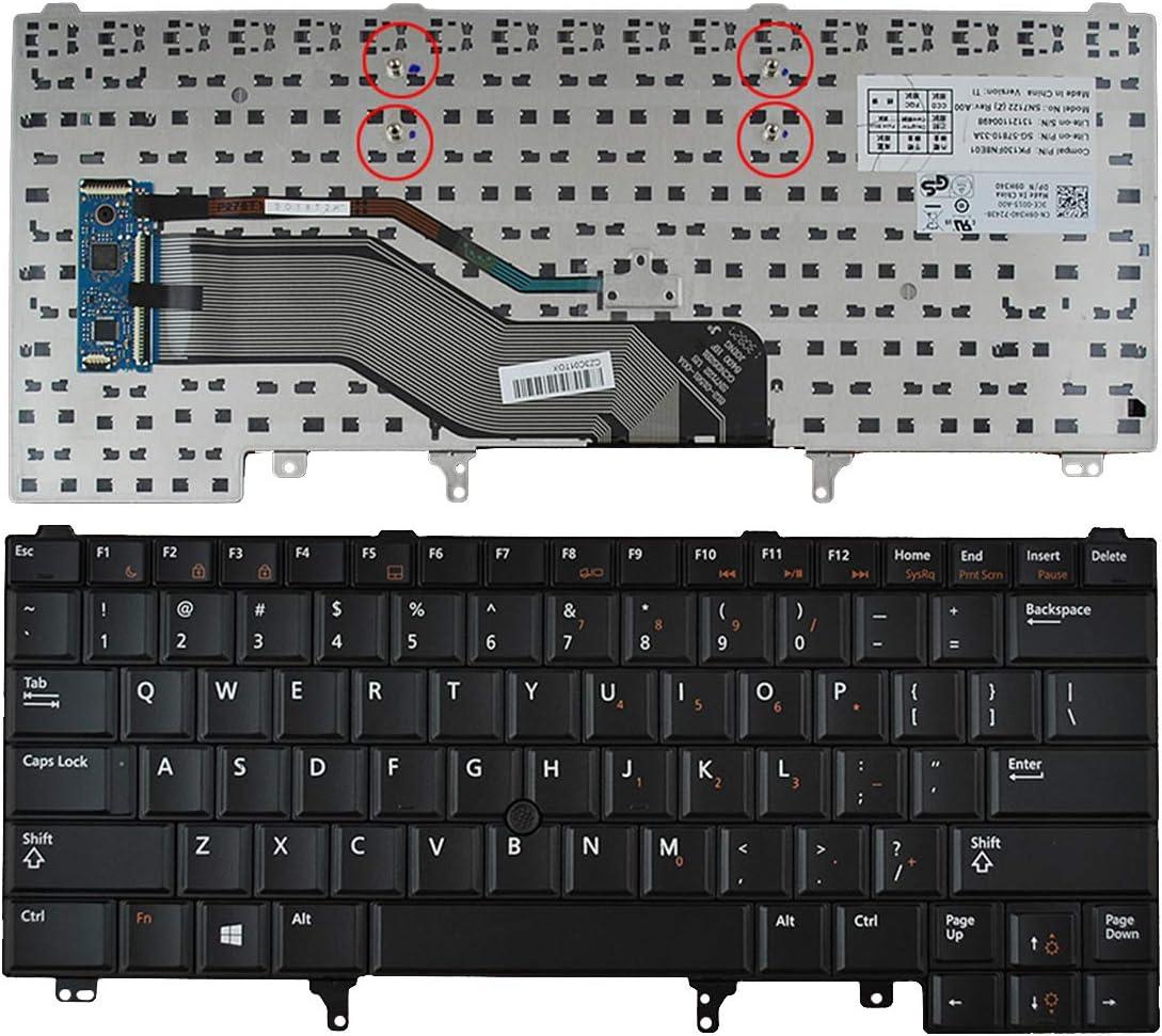 with Point Stick,Blue Print,Win8 Laptop Replacement Keyboard for DELL Latitude E6420 E5420 E6220 E6320 E6430 Black