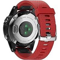 ANCOOL para Garmin Fenix 5S Banda 20mm Ancho Easy Fit Banda de Silicona Suave Reloj para Fenix 5S