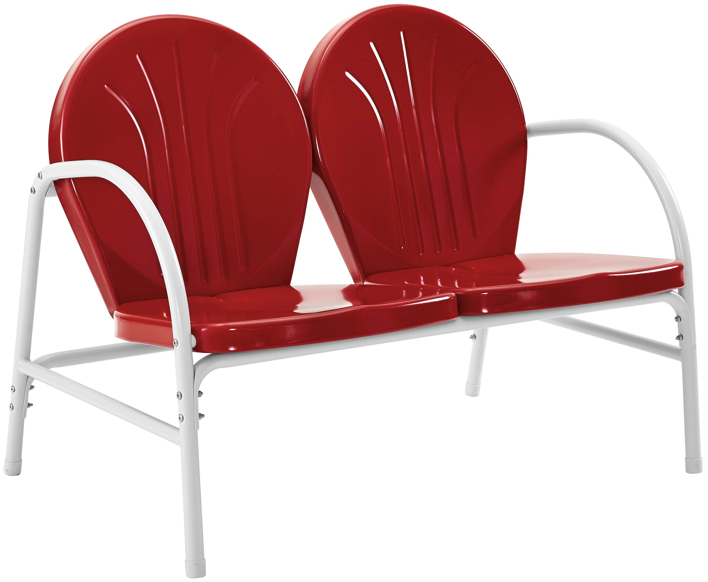 Crosley Furniture Griffith Metal Outdoor Loveseat - Red by Crosley Furniture