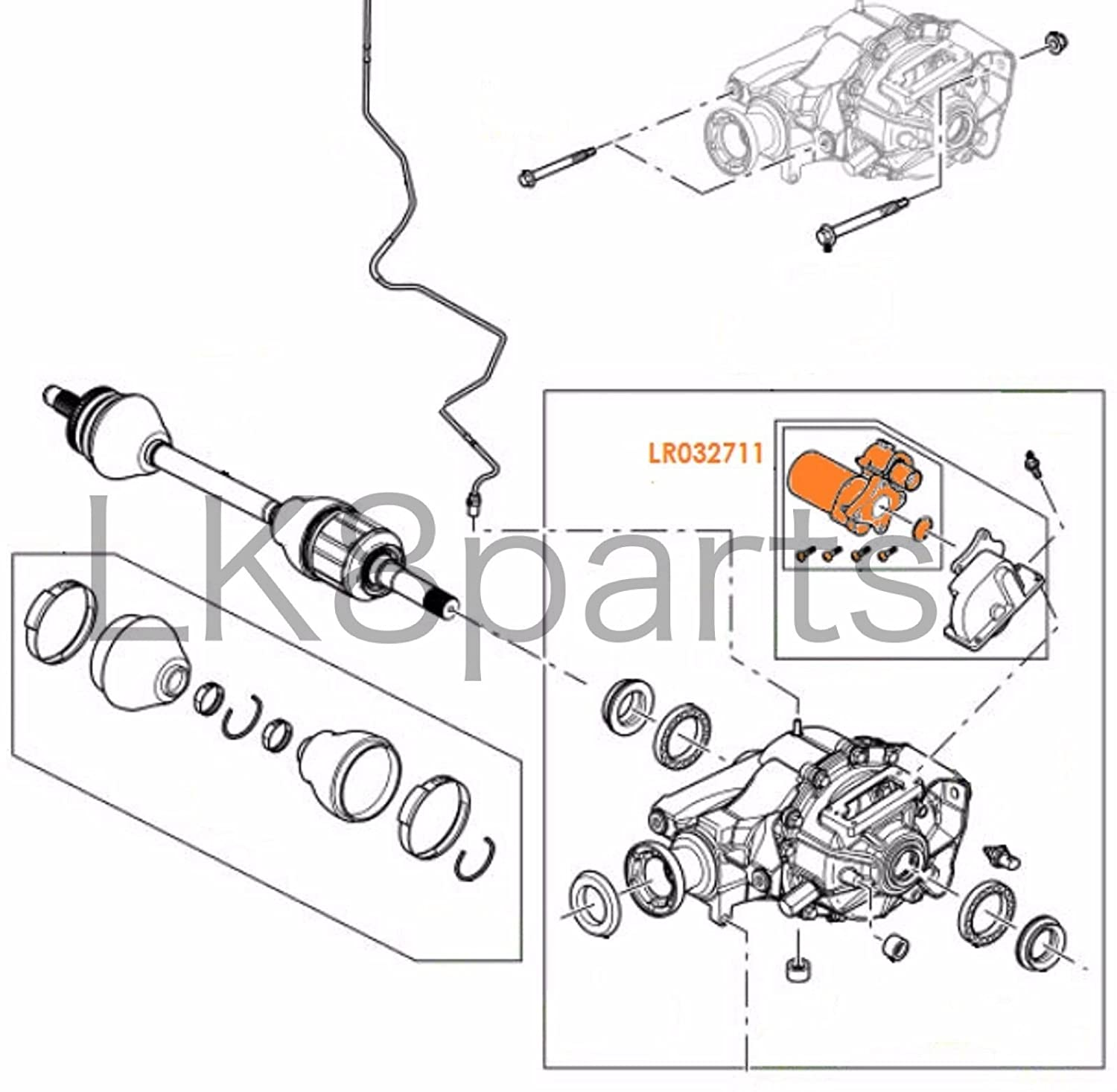 Range Rover Sport Lr3 Lr4 Oem Rear Axle Differential Locking Motor Engine Diagram Lr032711 Car Motorbike