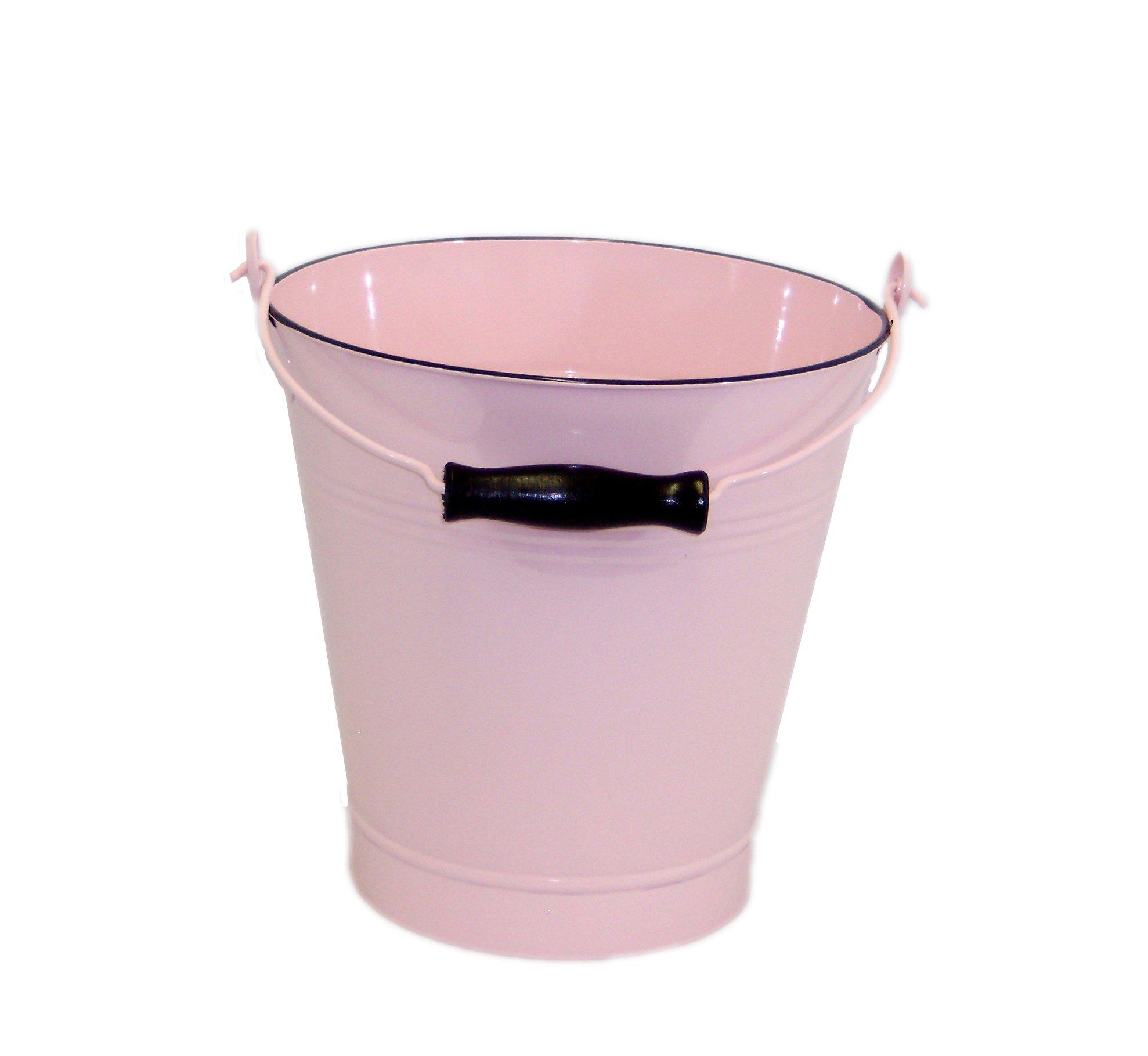 Large Pink Enamel Pail