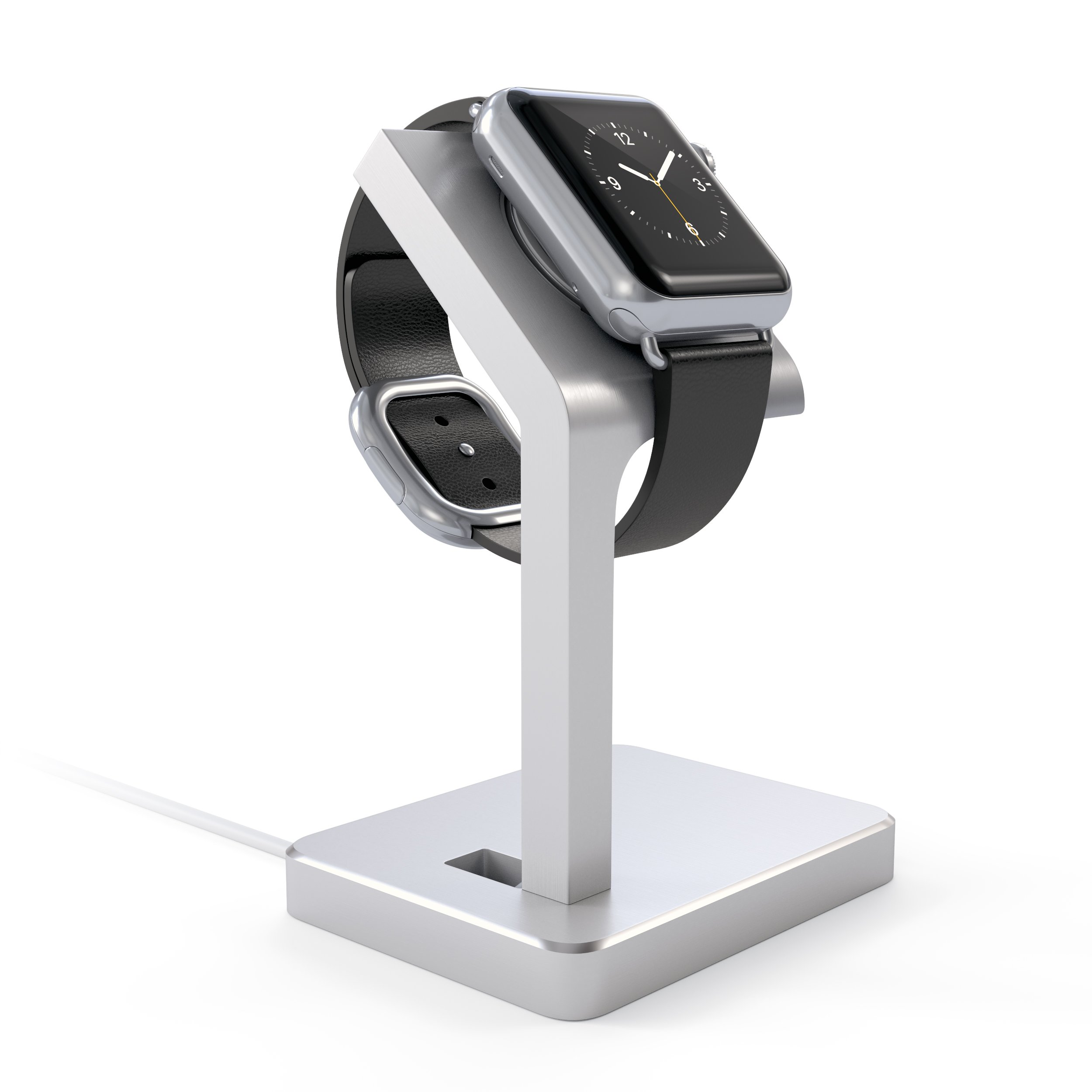 Satechi Apple Watch Series 1, 2 & 3 Stand, Aluminum Dock Apple Watch Station iWatch Bracket with Comfortable Viewing Angle for Apple Watch 42mm & 38mm All Models (Silver)