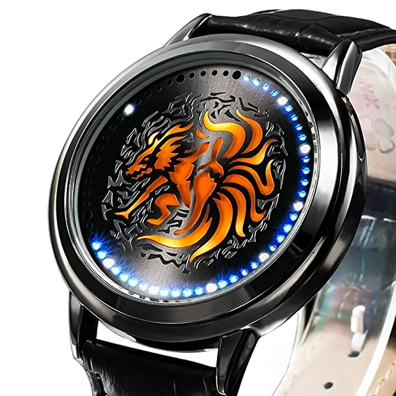 wildforlife Anime Naruto Yang Kurama de coleccionista Edition Touch LED Reloj