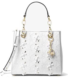 c8971ce72348 MICHAEL Michael Kors Cynthia Small Floral Embroidered Leather Satchel Bag