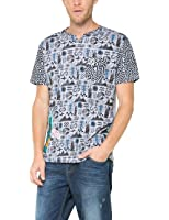 Desigual Panacor Steven - T-shirt - Imprimé - Manches courtes - Homme