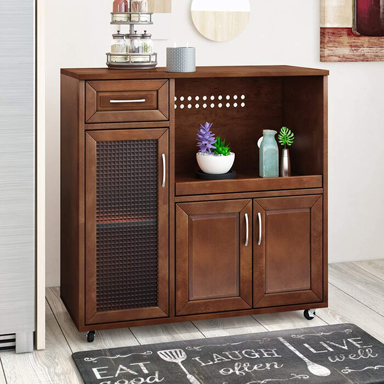Contemporary Kitchen Pantry Cabinet Modern Microwave Cart Classic Silhouette Kitchen Cabinet Amazon Ca Home Kitchen