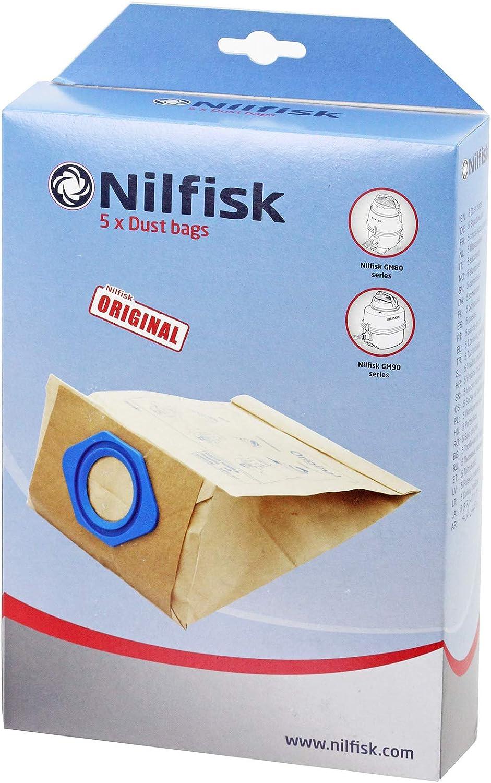 Nilfisk G90 GM80 GM90 - Bolsas para aspiradora (5 Unidades ...