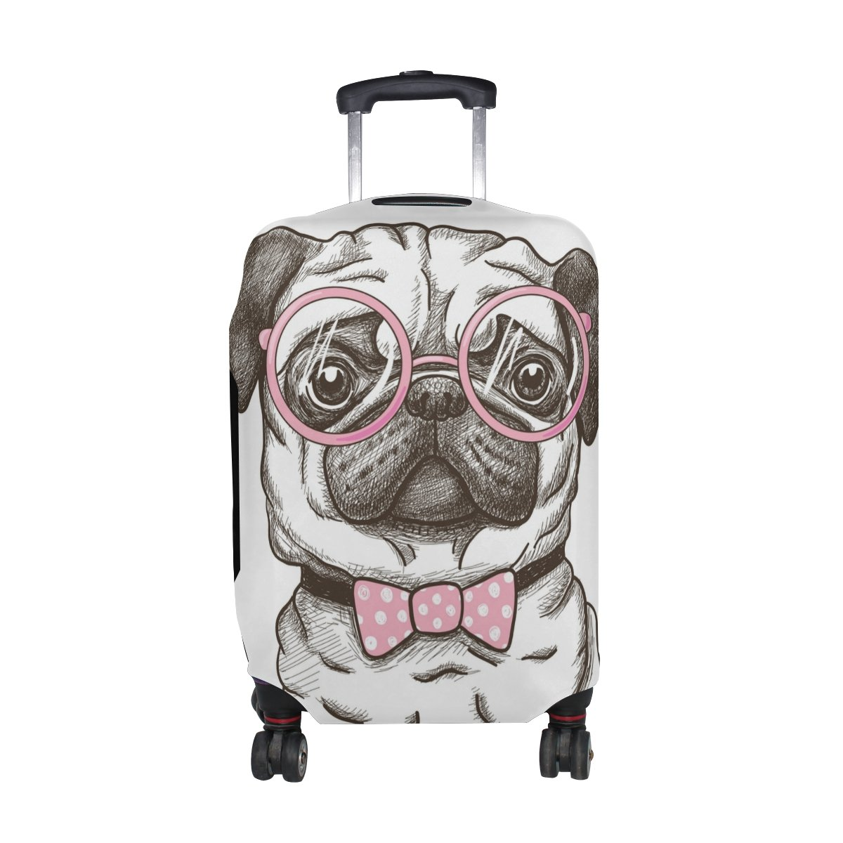 Cooper girl Love Pug Dog Travel Luggage Cover Suitcase Protector Fits 23-26 Inch