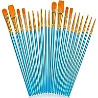 Soucolor Acrylic Paint Brushes Set, 20Pcs Round Pointed Tip Artist Paintbrushes for Acrylic Painting Oil Watercolor…
