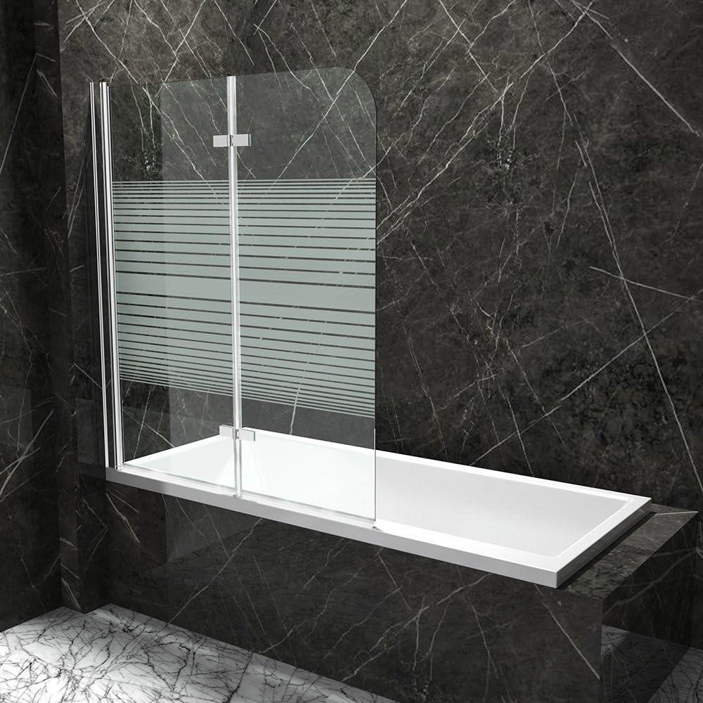 Bañera plegable pared nassau04 – (Cristal Transparente Y con leche Cristal de rayas: Amazon.es: Bricolaje y herramientas