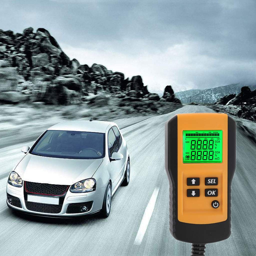 Tubicu Digitaler 12 V Autobatterie-Analysator f/ür Kfz-Volt CCA-Widerstands-Diagnoseger/ät