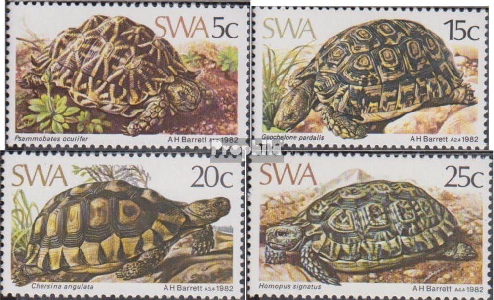 Amphibien // Reptilien // Saurier 1982 Schildkr/öten Prophila Collection Namibia Briefmarken f/ür Sammler kompl.Ausg. S/üdwestafrika 516-519